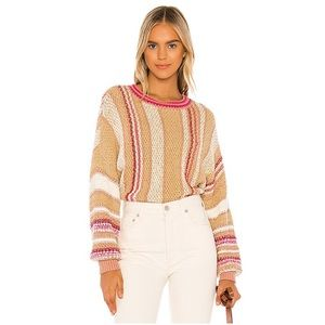 Free People Show Me Love Pullover Neutral Combo Small S